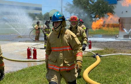 CRUISE Port Canaveral firefighting training.