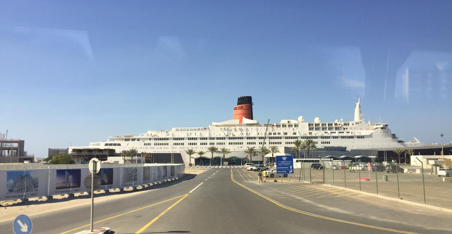 After Almost A Decade Sitting In Dubai Qe2 To Open As A Floating Hotel Seatrade Cruise Com