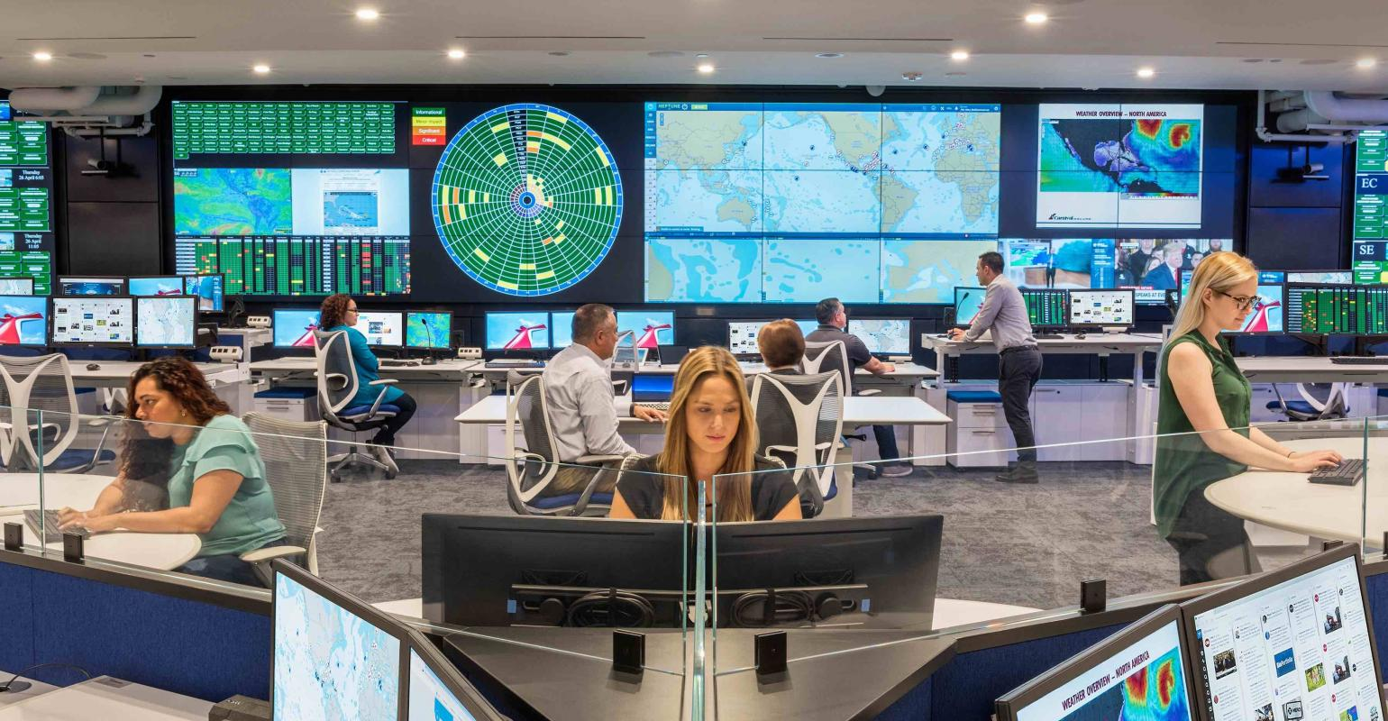 Carnival shows off cutting-edge Fleet Operations Center in Miami ...