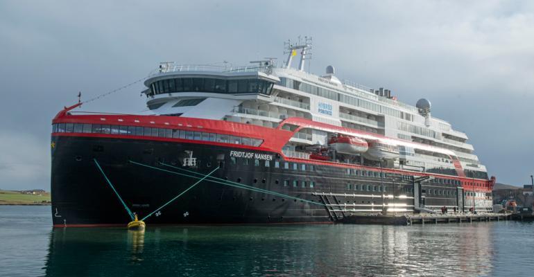 Lerwick's first cruise ship of 2020 season, Fritdjof Nansen. Credit Dave Donaldson.jpg