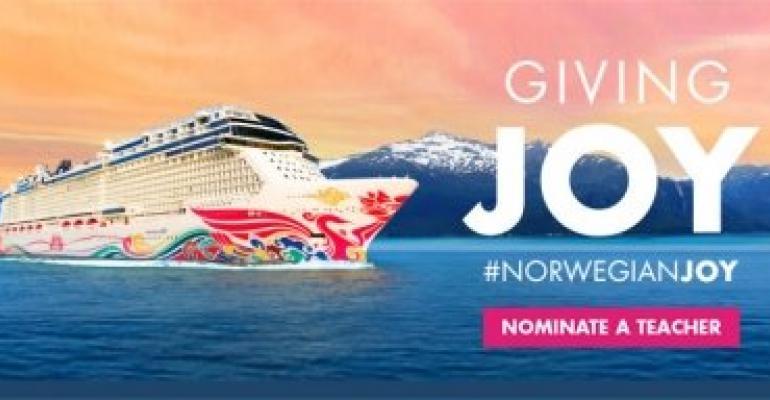 Norwegian giving joy campaign