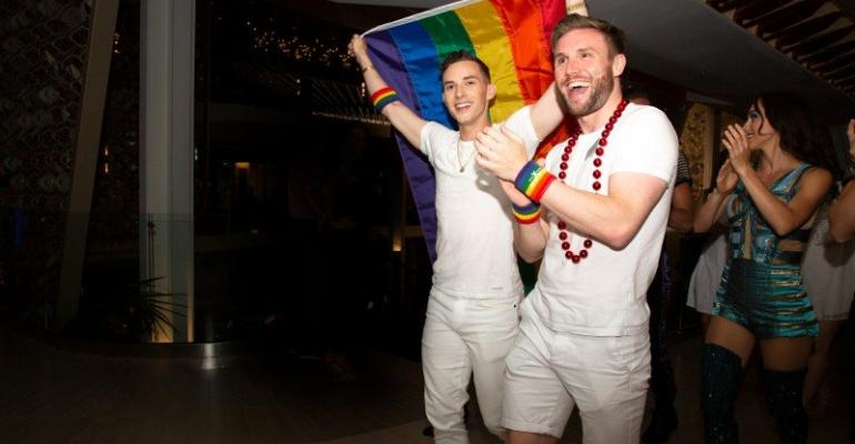 celebrity pride party with adam rippon