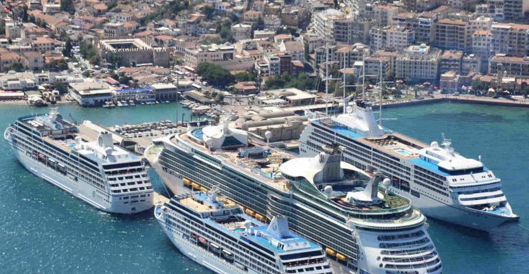 Ege Port Kuşadası first cruise port awarded Ecoports environmental certificate.low