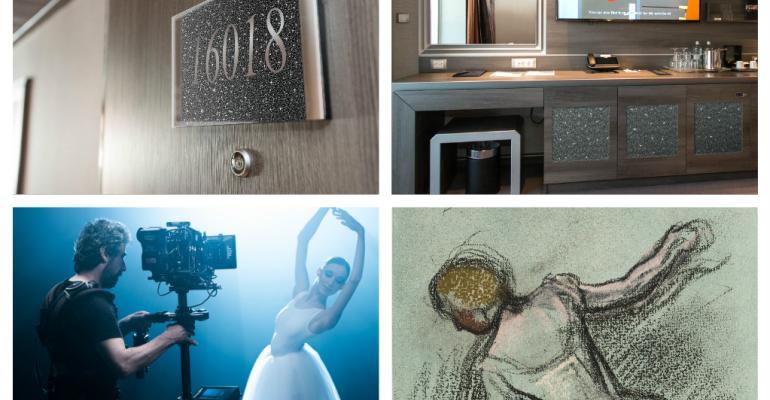 MSC bellissima swarovski suite:MSC grandiosa fine art experience