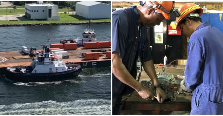 resolve barge:grand bahama workers