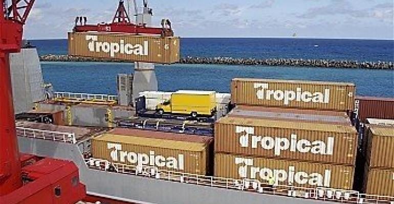 tropical shipping containers