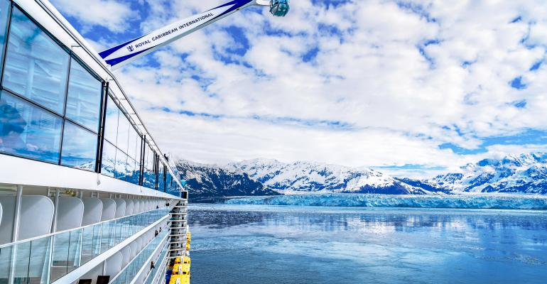 ovation of the seas at hubbard glacier