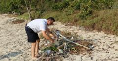 Capt from Variety beach cleaning