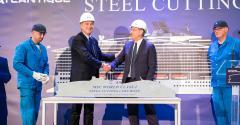 pierfrancesco vago + laurent castaing at MSC europa steel-cutting